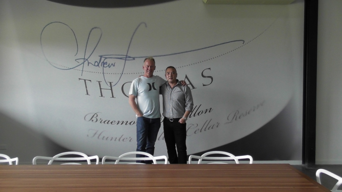 Visiting Thomas Wines in Hunter Valley